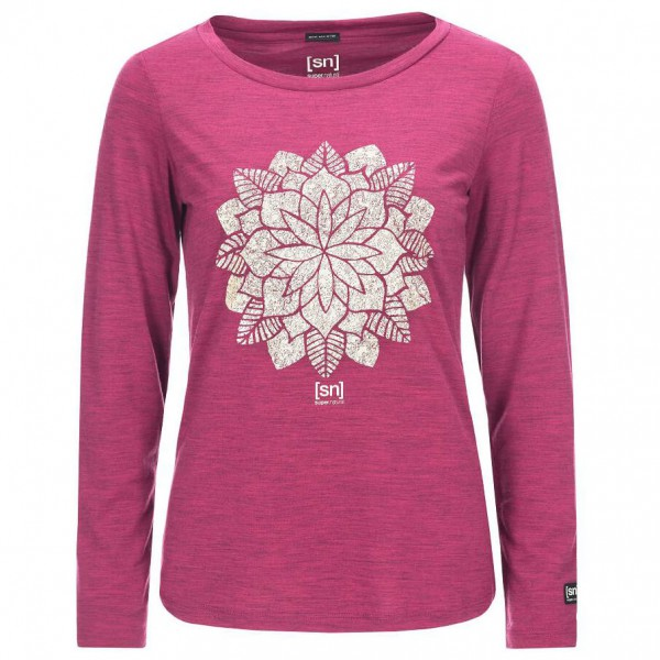 SuperNatural - Women's Graphic L/S - Yoga-skjorte