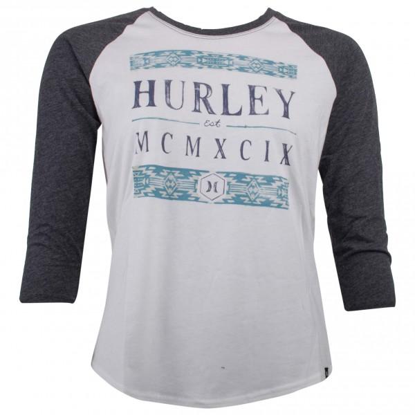 Hurley - Women's Happening Perfect Raglan - Camiseta de manga larga