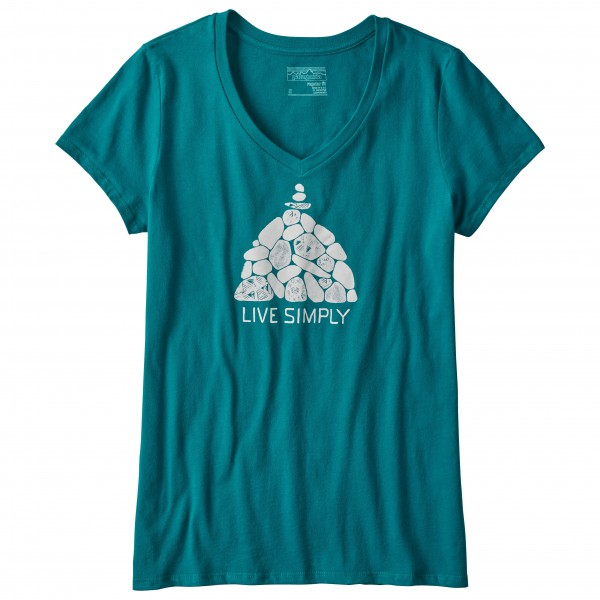 Patagonia - Women's Live Simply Summit Stones V-Neck T-Shirt - T-shirt