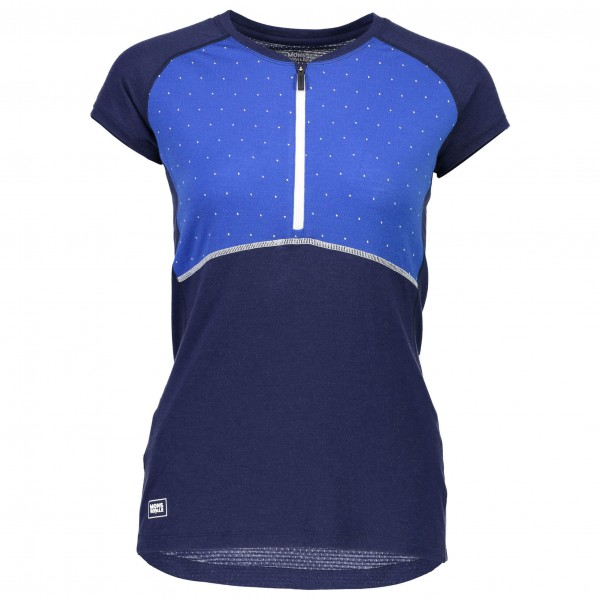 Mons Royale - Women's Bella Zip Tech Tee Geo - Funktionsshirt