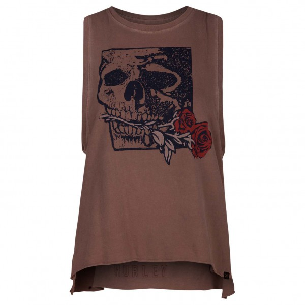 Hurley - Women's Yaiya Skull Rose Biker Tank - Tank Top