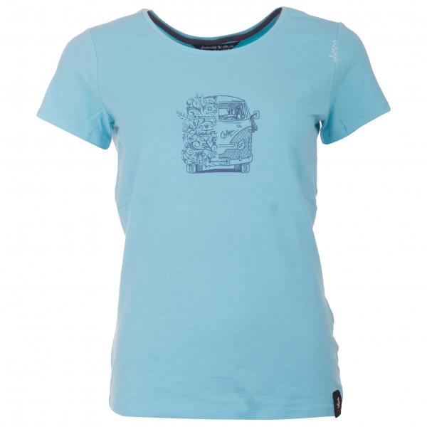 Chillaz - Women's Gandia Lettering Bus Cotton Blue - T-shirt