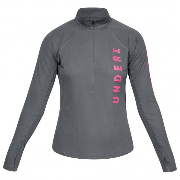 Under Armour - Women's Speed Stride Split Wordmark Half Zip - Tekninen paita