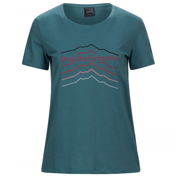 Peak Performance - Women's Explore Tee Hill Print - Camiseta de manga corta