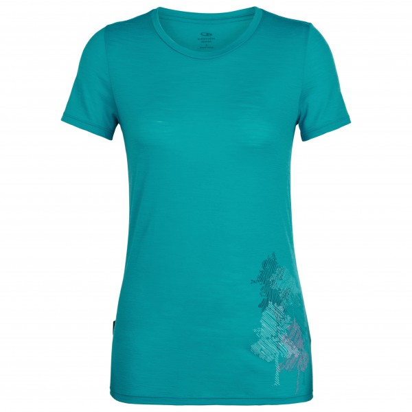 Icebreaker - Women's Spector S/S Crewe Through The Forest - T-shirt