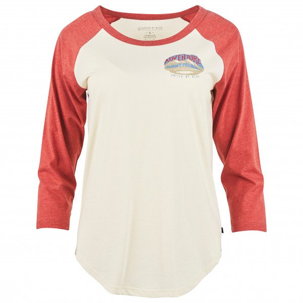United By Blue - Women's Adventure Awaits 3/4 Baseball Tee - Longsleeve