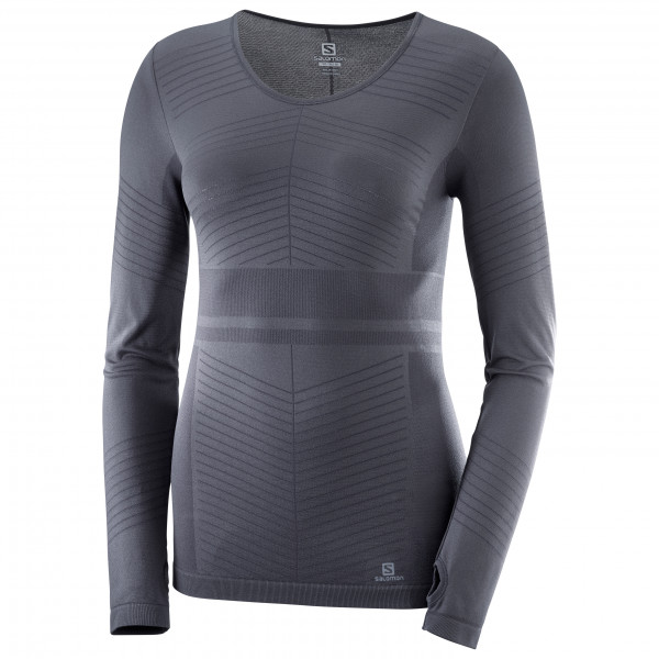 Salomon - Women's Elevate Moveon L/S T Solid - Juoksupaita