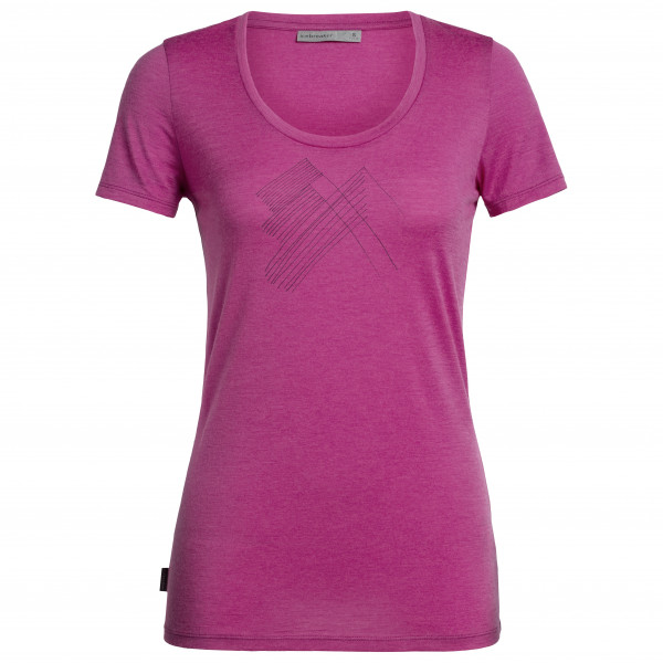 Icebreaker - Women's Tech Lite S/S Scoop Snap Head - T-skjorte