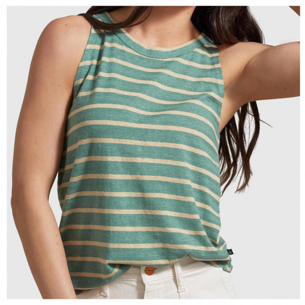 United By Blue - Women's Striped High Neck Tank - Top