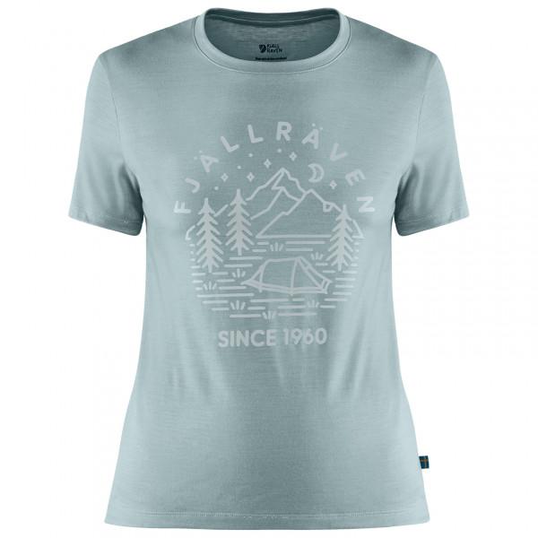 Fjällräven - Women's Abisko Wool Tältplats S/S - Camiseta de manga corta