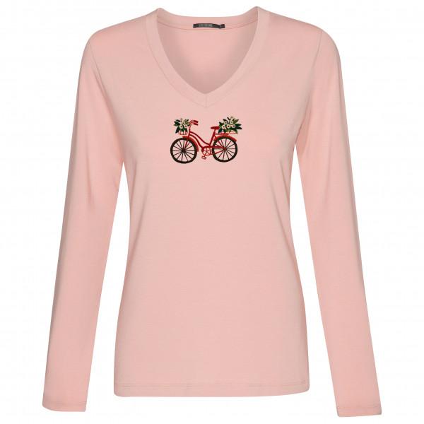 Women's Bike Flower Tiny - Longsleeve