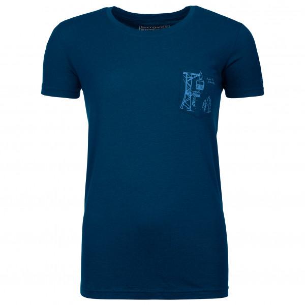 Women's 185 Merino Way To Powder Ts - Merino shirt