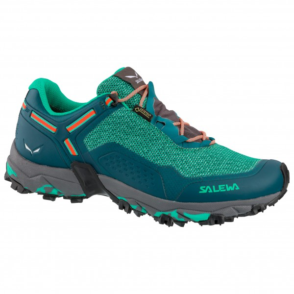 Salewa Women's Speed Beat GTX Trailrunningschuhe Shaded Spruce Fluo Coral | 4,5 (UK)