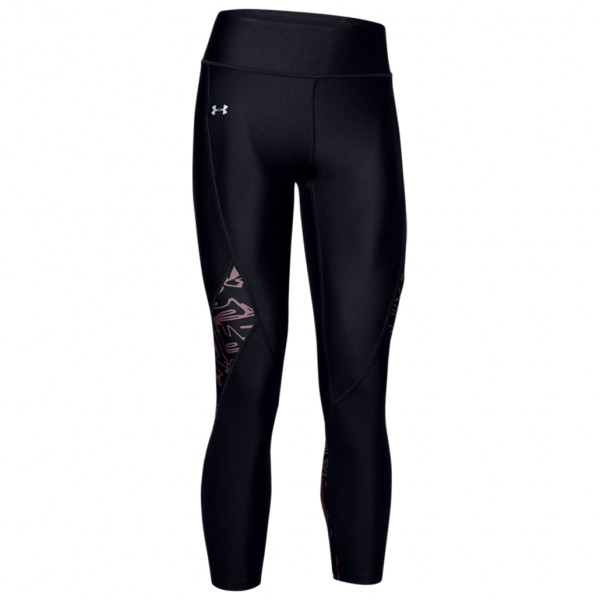 Women's UA HG Armour Printed Panel Ankle Crop - Running tights