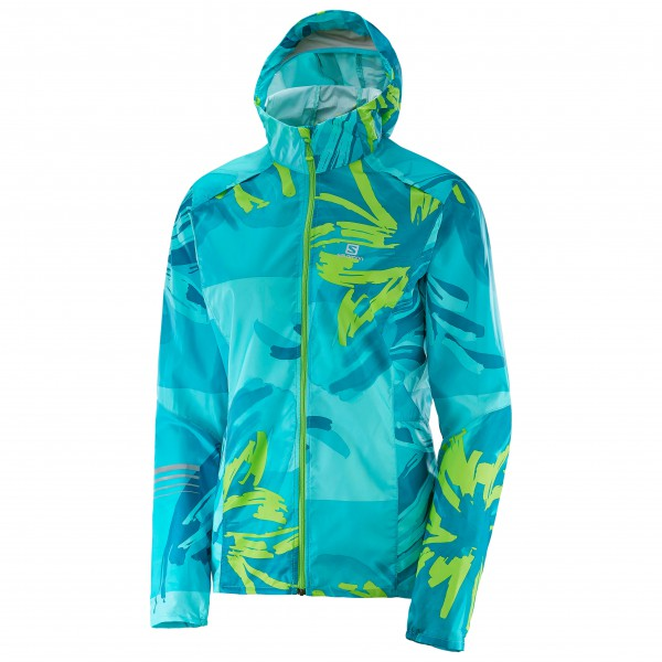 Salomon - Women's Lightning Wind Graph Hoodie - Laufjacke