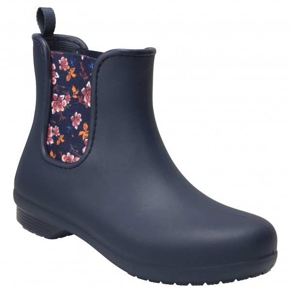 newest a28c5 6b917 Crocs - Women's Crocs Freesail Chelsea Boot - Gummistiefel - Navy / Floral  | W5 (US)