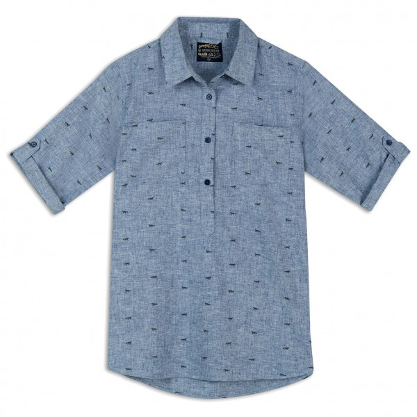 United By Blue - Womens Fox Trail Printed Popover - Bluse