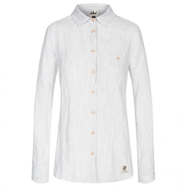 Bleed - Women's Striped Linen Shirt - Skjorte
