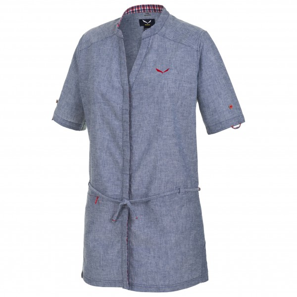 Salewa - Women's Fanes Dress Linen Cotton S/S Shirt - Kleid