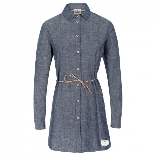 Bleed - Women's Denim Hemp Dress - Kleid