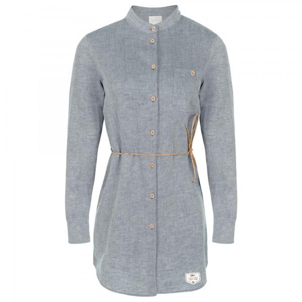 Bleed - Women's Leinen Denim Hemd - Kleid