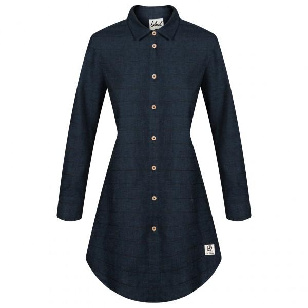 Bleed - Women's Striped Flanell Hemdkleid - Kleid