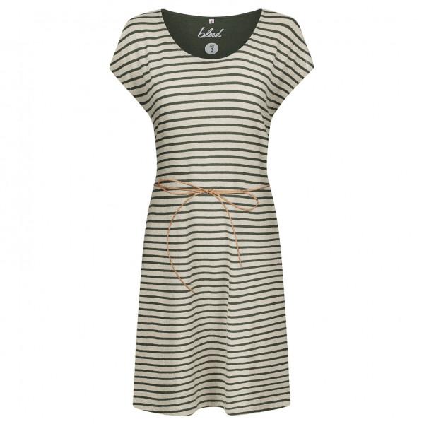 Bleed - Women's Striped Dress Linen - Jurk