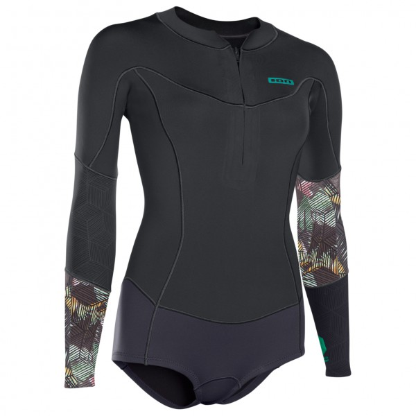 ION - Women's Muse Hot Shorty L/S 1,5 FZ DL - Neoprenanzug