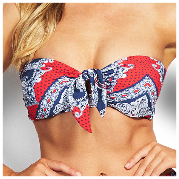 Seafolly - DD Tie Front Bandeau - Bikinitopp