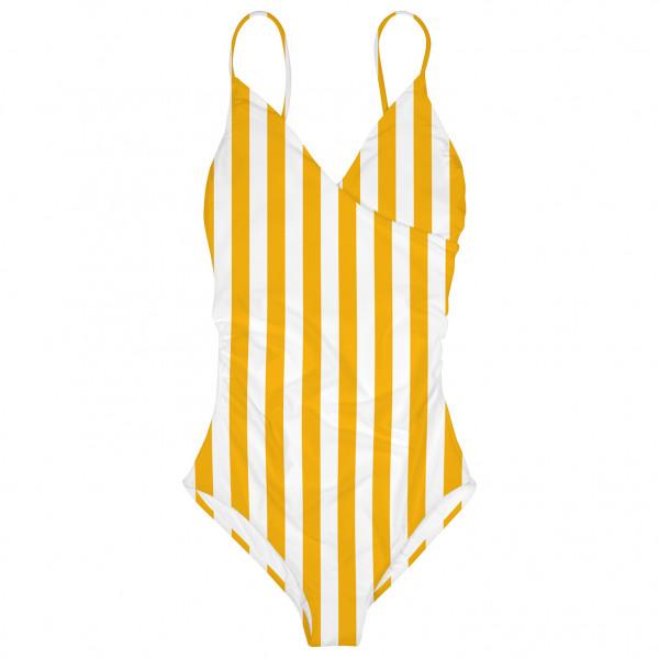 DEDICATED - Women's Wrap Swimsuit Klinte Big Stripes - Badeanzug