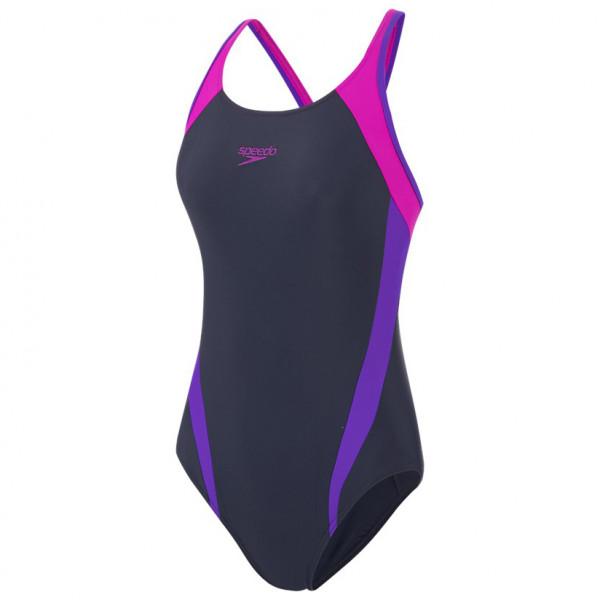 Speedo - Women's Logo Splice Muscleback - Swimsuit