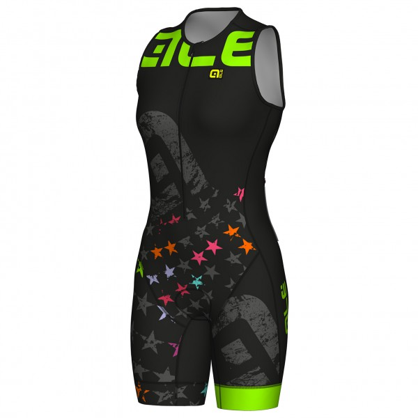 Alé - Women's Sleeveless Unitard Long Triathlon Stelle - Pantalones de ciclismo