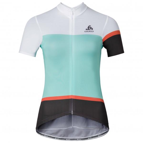 Odlo - Women's Kamikaze Stand-up Collar S/S FZ - Cycling jersey