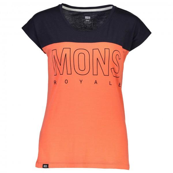 Mons Royale - Women's Phoenix Cap Tee Box Logo - Pyöräilypusero