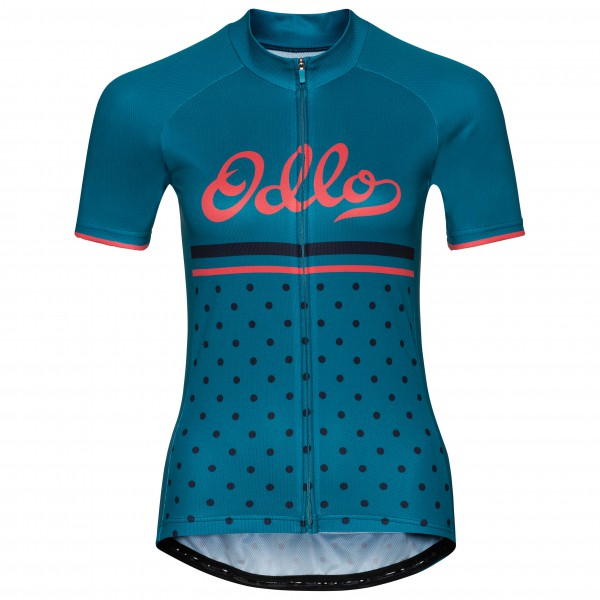 Odlo - Women's Stand-Up Collar S/S Full Zip Fujin Print - Cycling jersey