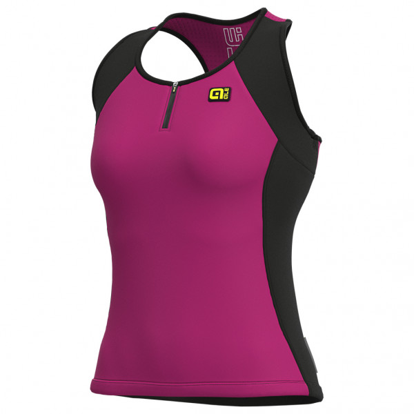 Alé - Women's Color Block Top Solid - Maillot de ciclismo sin mangas