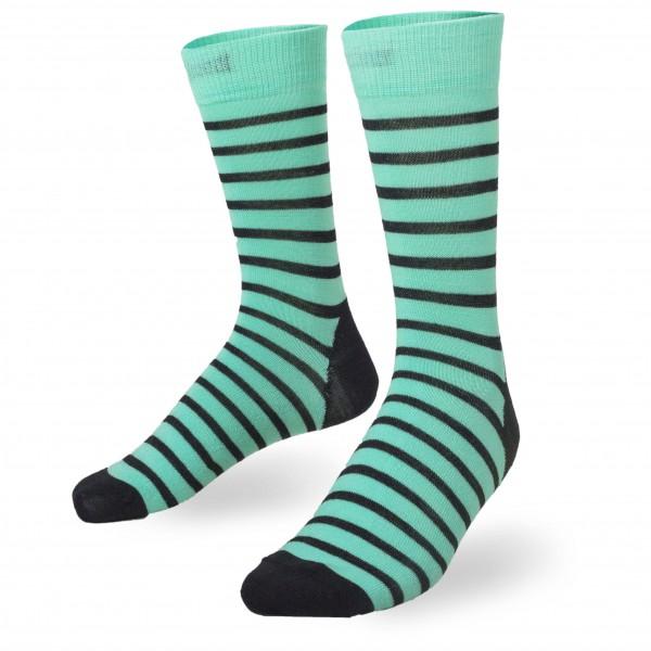 Mons Royale - Women's Mid Calf Sock Stripes - Multifunktionssockor