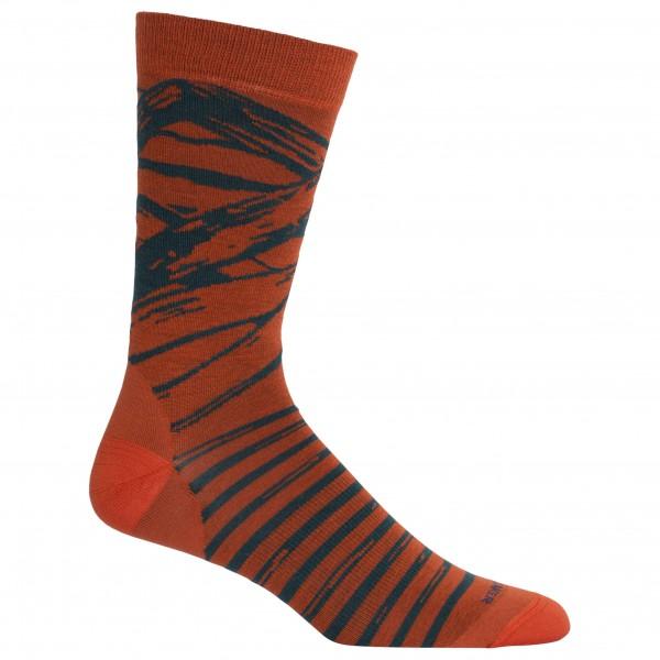 Icebreaker - Lifestyle Fine Gauge Ultralight Crew Stone Mnt - Multifunctionele sokken
