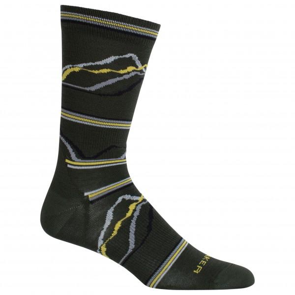 Icebreaker - Lifestyle Ultra Light Crew Seismograph 7 - Multifunctionele sokken