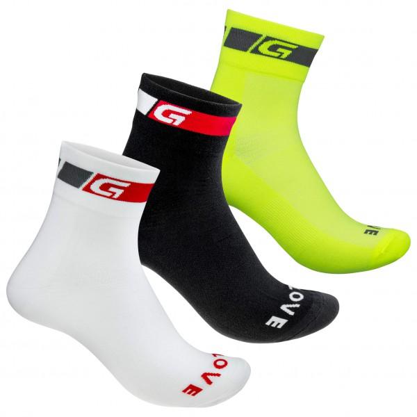 GripGrab - 3-Pack Tricolore Regular Cut - Calcetines de ciclismo