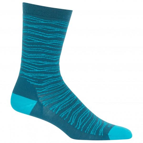 Icebreaker - Lifestyle Fine Gauge Crew Zigzag Strata - Multifunktionelle sokker