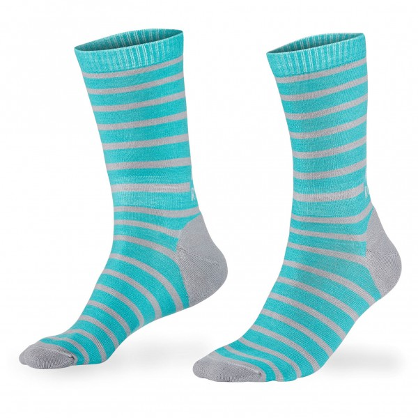 Mons Royale - All Rounder Stripes Crew Sock - Calcetines multifuncionales