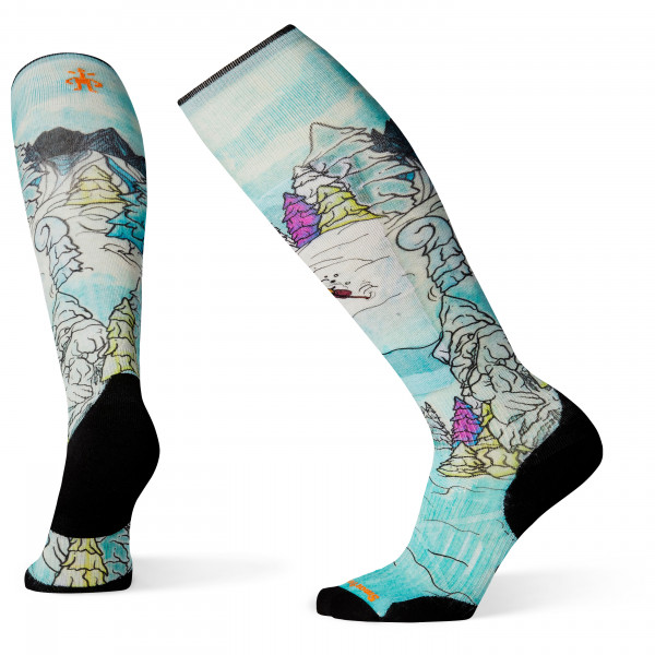 Smartwool - PhD Ski Light Elite Pow Days Print - Ski socks
