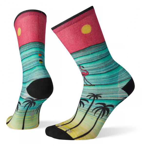 Smartwool - Women's Curated Surfing Flamingo Crew - Multifunktionelle sokker