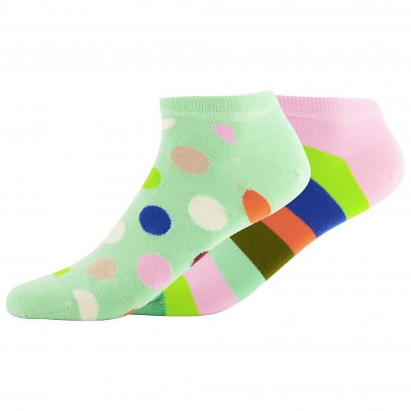 Big Dot Stripe Low Sock 2-Pack - Sports socks