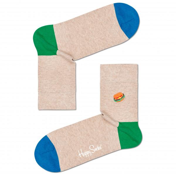Embroidery Burger Half Crew Sock - Sports socks