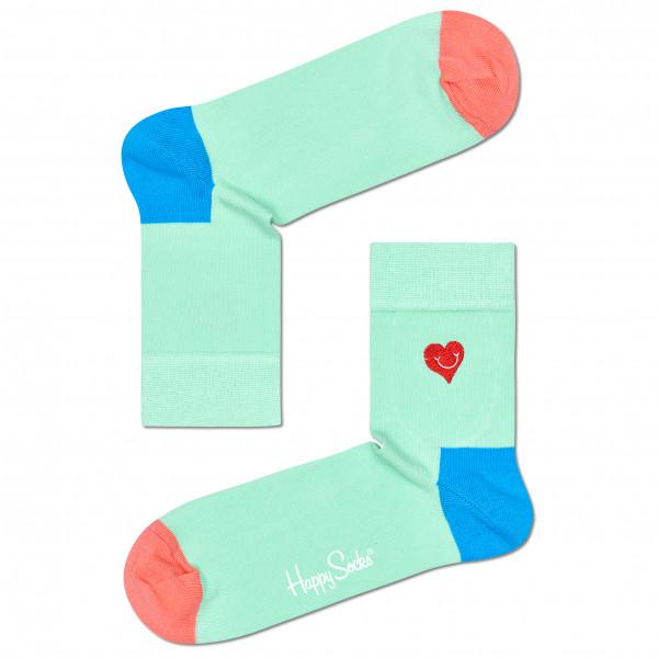 Embroidery Heart Half Crew Sock - Sports socks