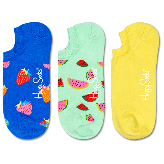 Happy Socks - Fruit No Show Sock 3-Pack - Chaussettes multifonctions