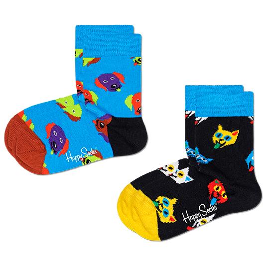 Kid's Cat And Dog Sock 2-Pack - Sports socks