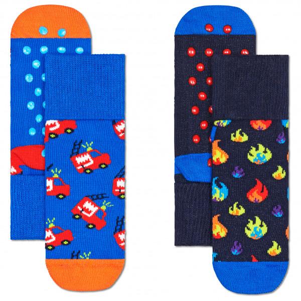 Kid's Firetruck Anti Slip 2-Pack - Sports socks